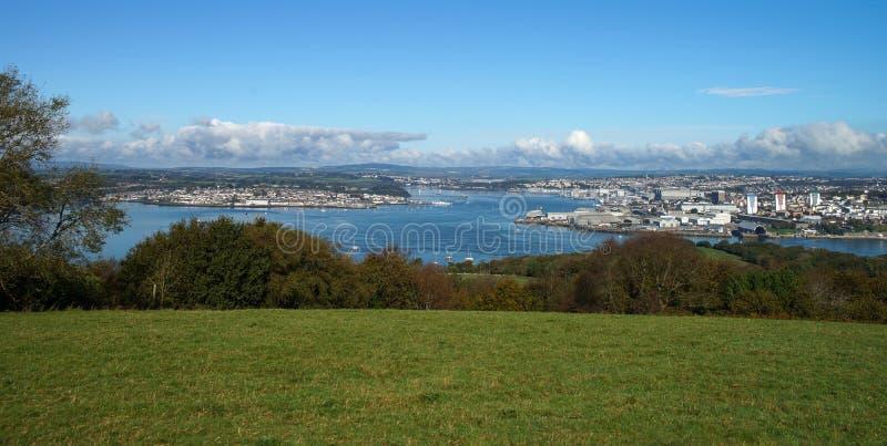 Linea costiera di Plymouth nel Regno Unito fotografia stock