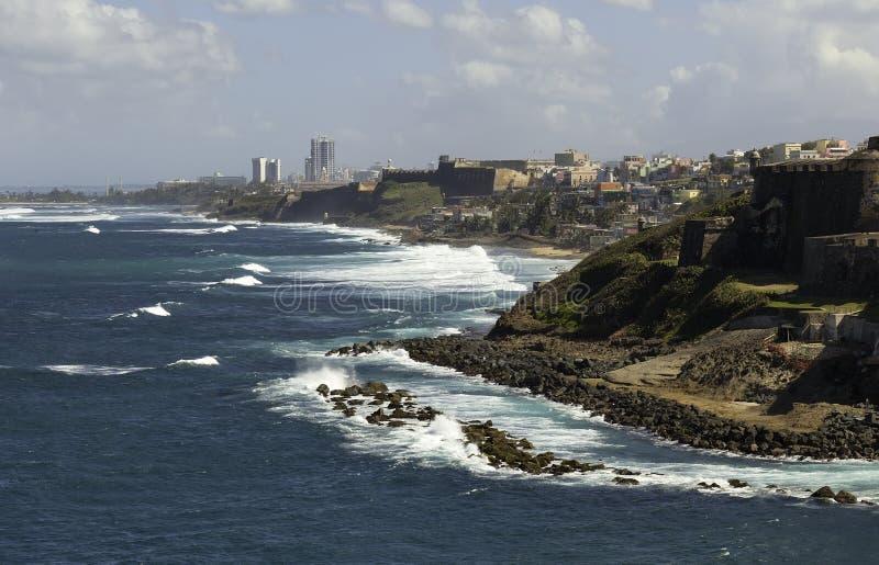 Linea costiera di San Juan, Porto Rico immagini stock