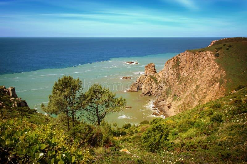 Linea costiera di Sintra fotografia stock libera da diritti