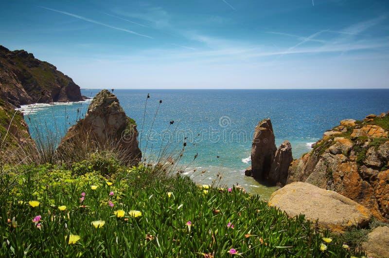 Linea costiera di Sintra fotografie stock libere da diritti