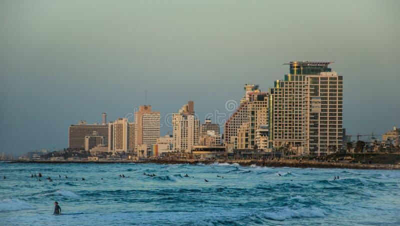 Linea costiera di Tel Aviv immagini stock libere da diritti