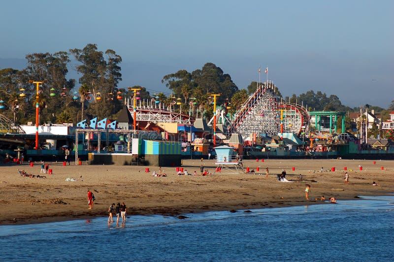 Linea costiera e giri di Santa Cruz fotografia stock libera da diritti