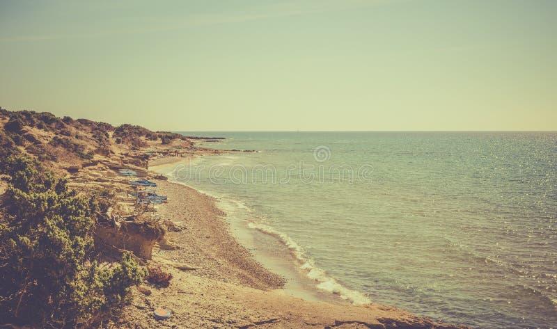 Linea costiera greca immagini stock