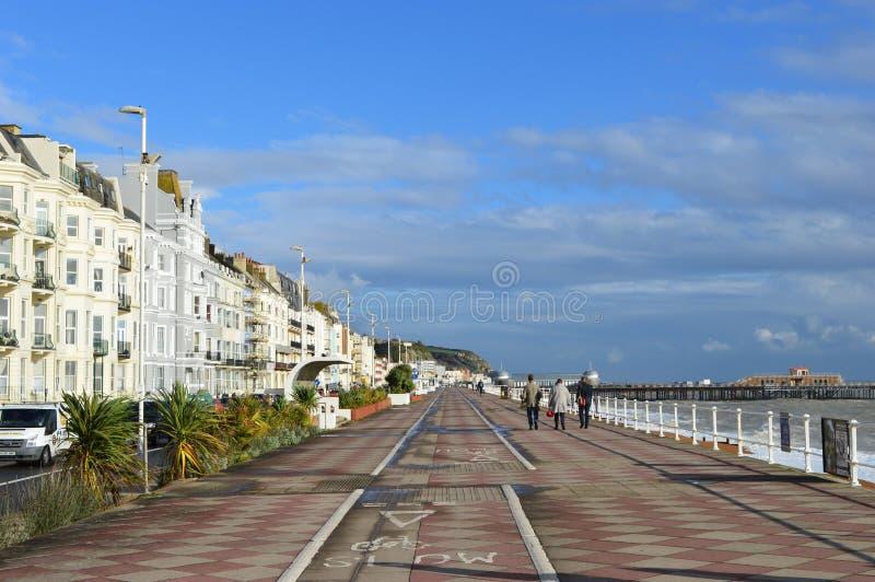 Linea costiera in Hastings fotografie stock libere da diritti