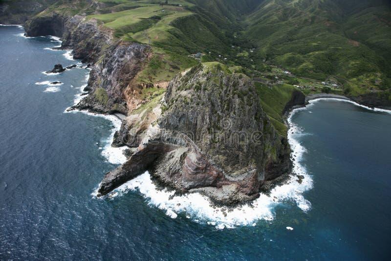 Linea costiera hawaiana. immagine stock