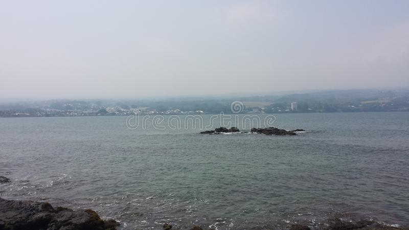 Linea costiera hawaiana fotografia stock libera da diritti
