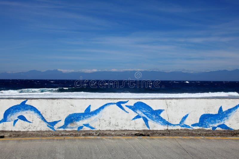Linea costiera, isola verde, Taiwan fotografie stock libere da diritti