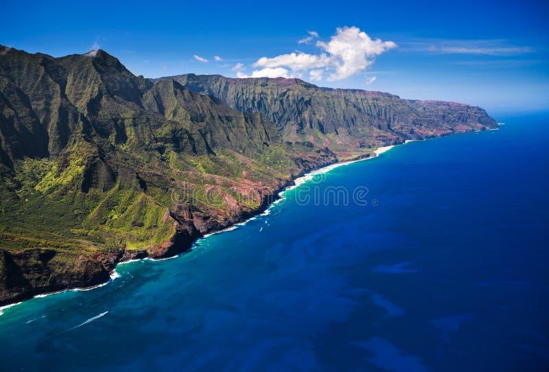 Linea costiera Kauai del Na Pali fotografie stock