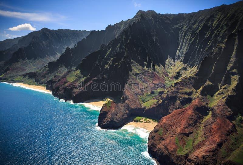 Download Linea Costiera Kauai Del Na Pali Fotografia Stock - Immagine di verde, aereo: 30828674