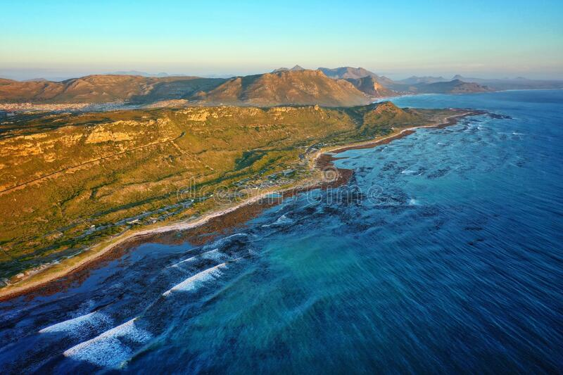 Linea costiera Kommetjie per il Sudafrica occidentale fotografia stock