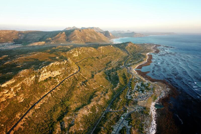 Linea costiera Kommetjie Western Cape Africa Sud Africa Sud Africa immagine stock libera da diritti