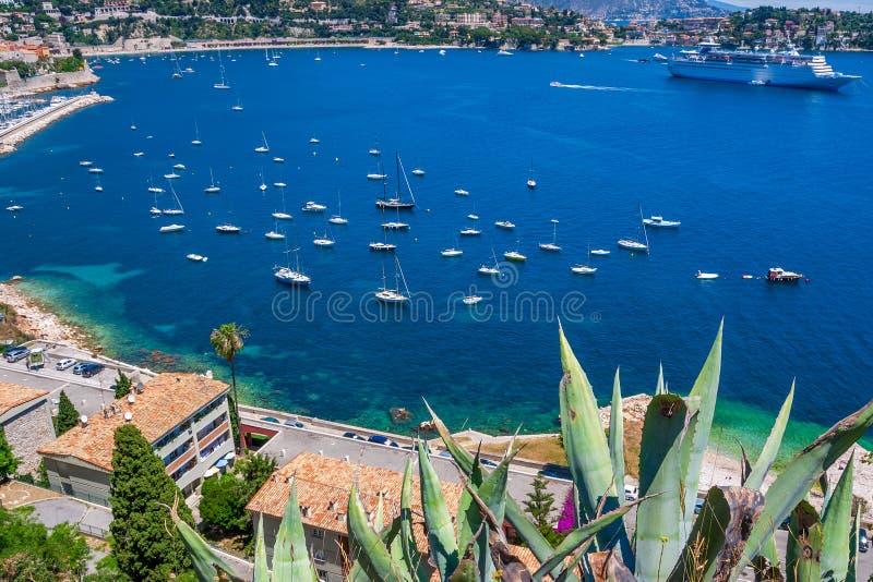 Linea costiera Nizza della città in Francia del sud fotografia stock libera da diritti