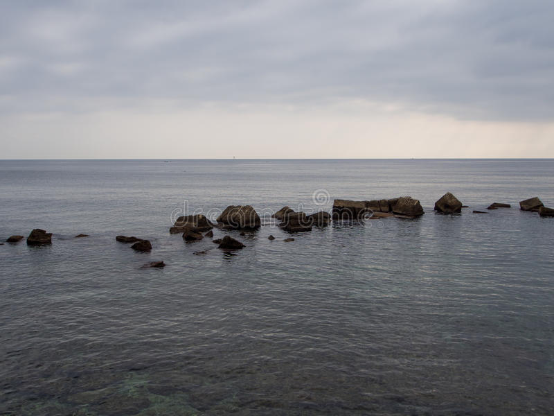 Linea costiera in Ortigia fotografie stock