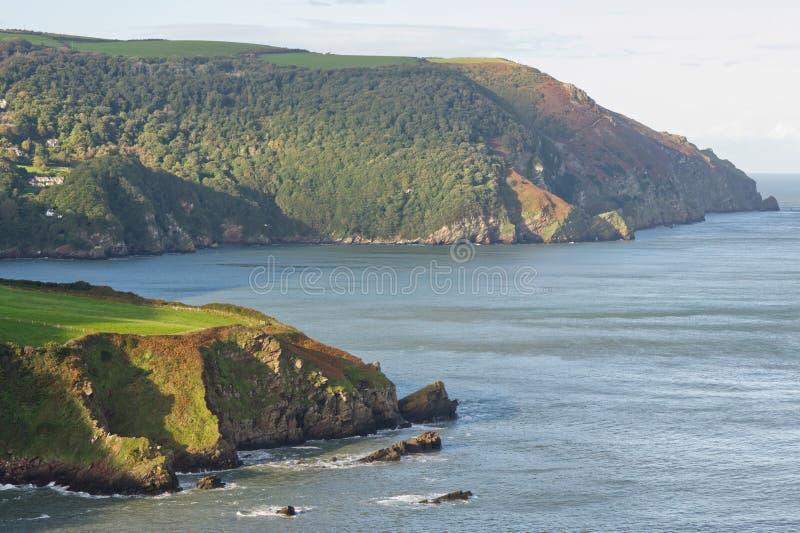 Linea costiera vicino a Lynton, Devon, Inghilterra fotografia stock