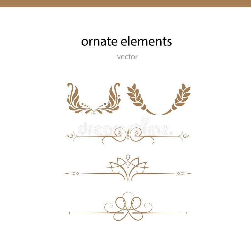Linea decorata di vettore degli elementi royalty illustrazione gratis