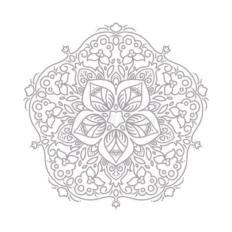 Linea decorativa struttura di arte per il modello di progettazione Elemento elegante di vettore, testo del posto Confine floreale royalty illustrazione gratis