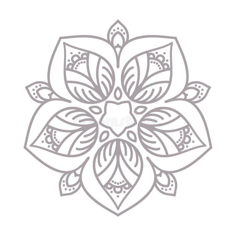 Linea decorativa struttura di arte per il modello di progettazione Elemento elegante di vettore, testo del posto Confine floreale illustrazione di stock