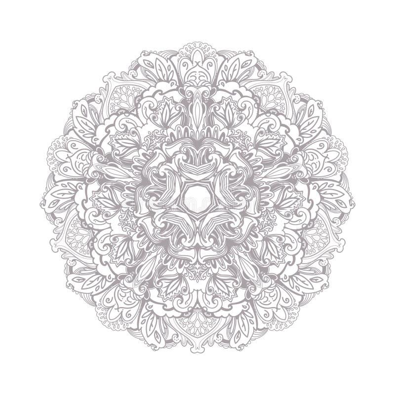 Linea decorativa struttura di arte per il modello di progettazione Elemento elegante di vettore, testo del posto Confine floreale illustrazione vettoriale