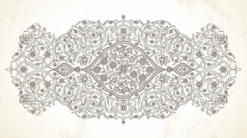 Linea decorazione di vettore di arte nello stile orientale illustrazione vettoriale