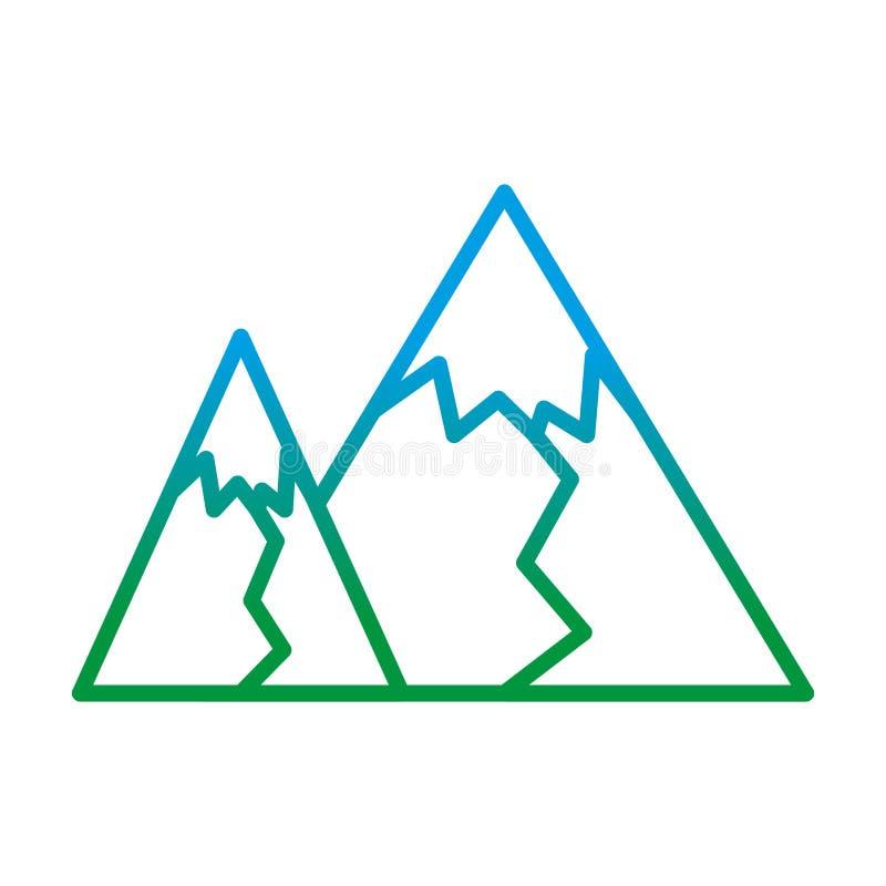 Linea degradata progettazione grafica di struttura della montagna piacevole royalty illustrazione gratis