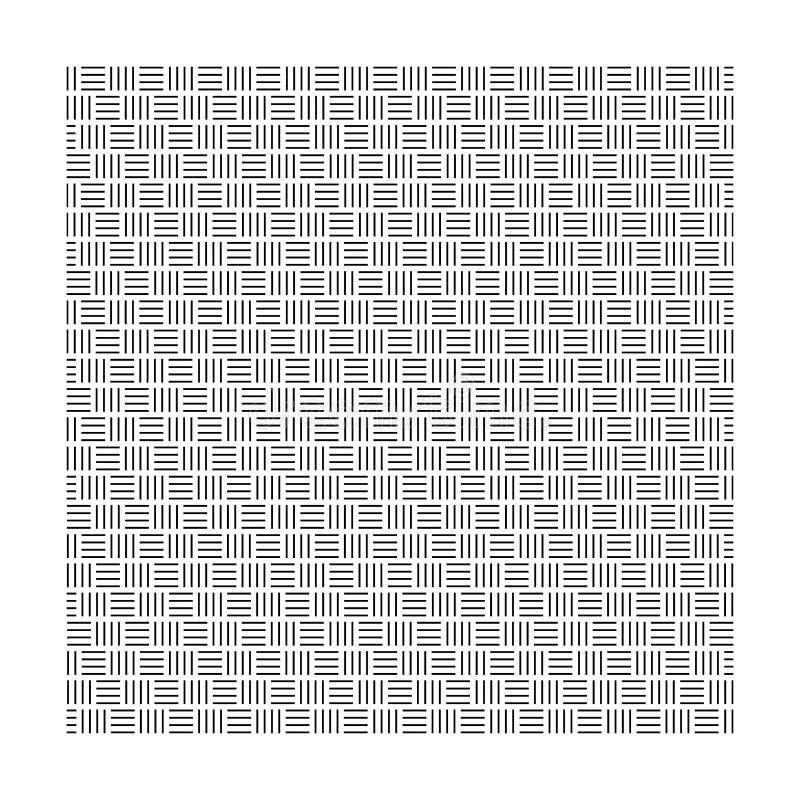 Linea dell'impianto a scacchiera isolata nel fondo bianco royalty illustrazione gratis