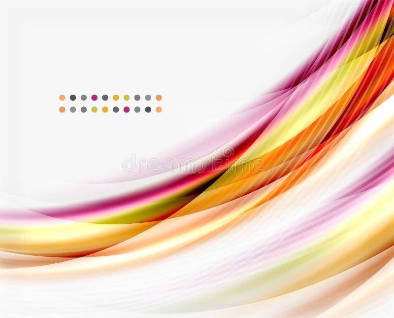 Linea dell'onda di vettore, affare o modello traslucido di tecnologia illustrazione vettoriale