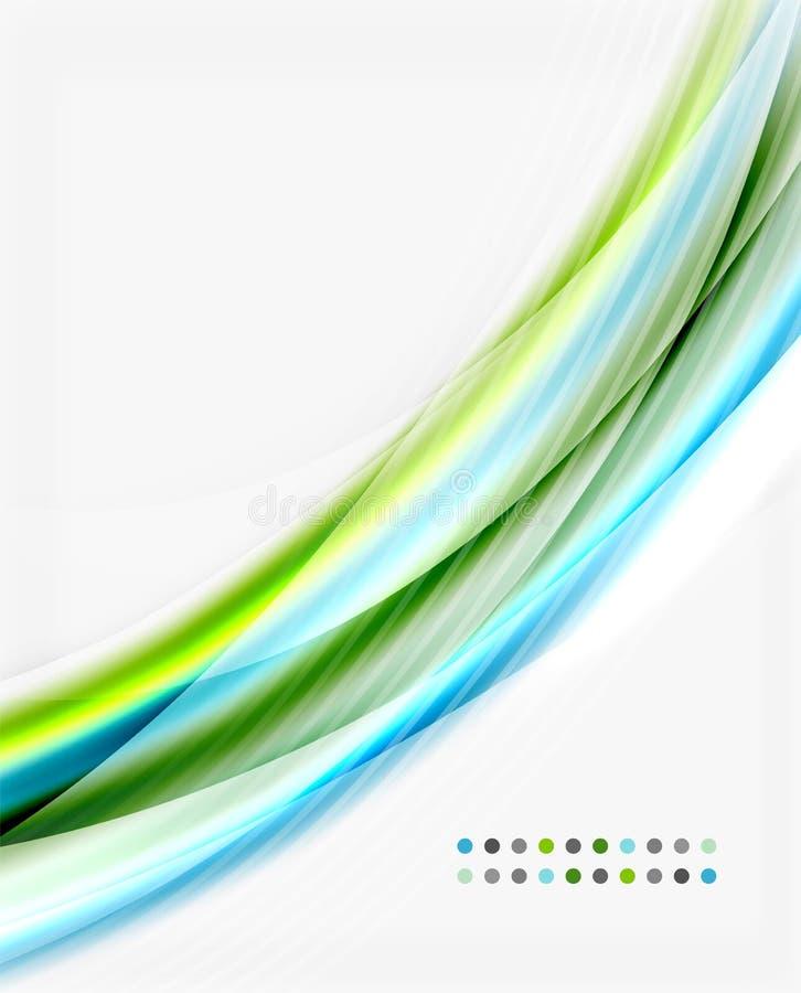 Linea dell'onda di vettore, affare o modello traslucido di tecnologia royalty illustrazione gratis