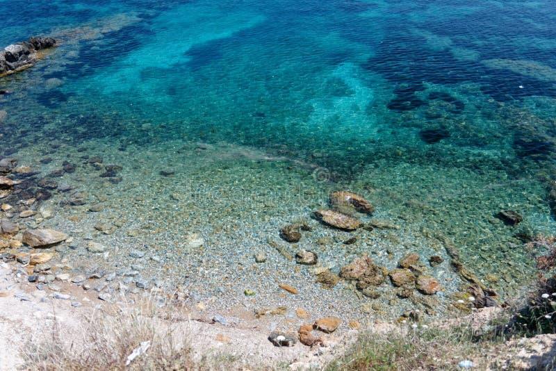 Linea 05 della costa della Corsica fotografie stock libere da diritti