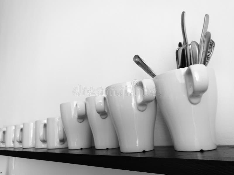 Linea della tazza fotografia stock