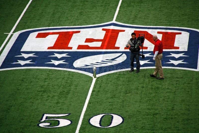 Linea delle yard trofeo dello stadio 50 dei cowboy fotografia stock