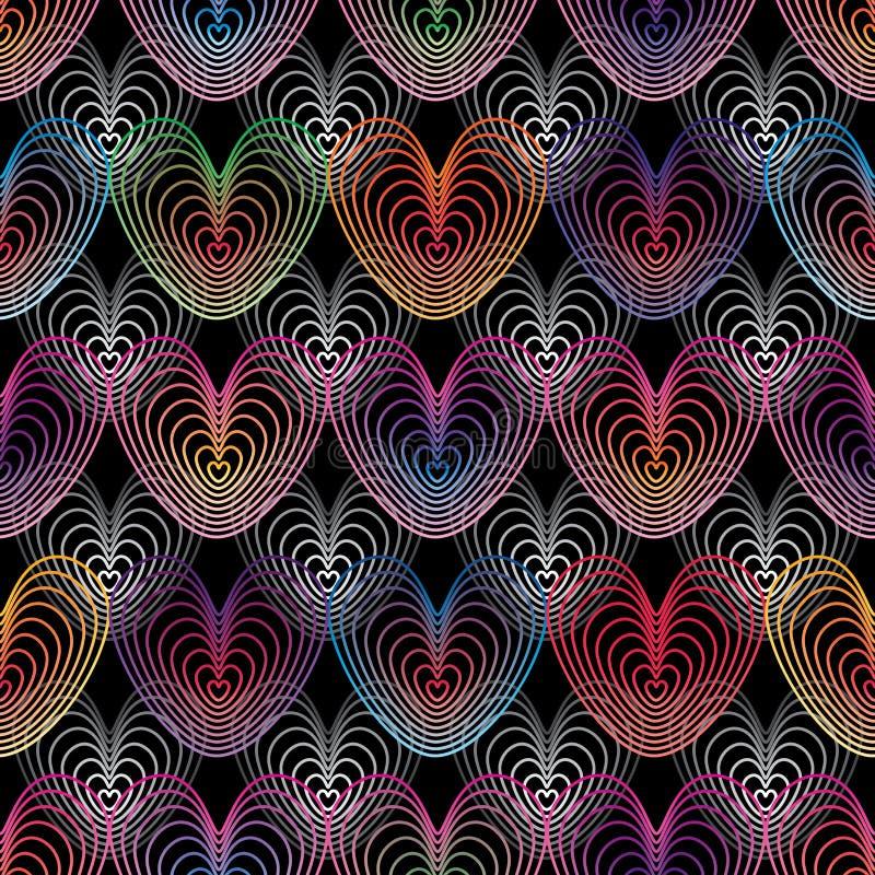 Linea di amore modello senza cuciture variopinto illustrazione di stock