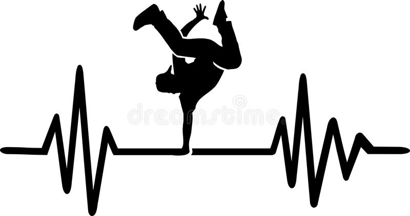 Linea di battito cardiaco di breakdance royalty illustrazione gratis