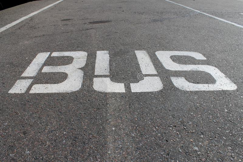 Linea di bus fotografia stock