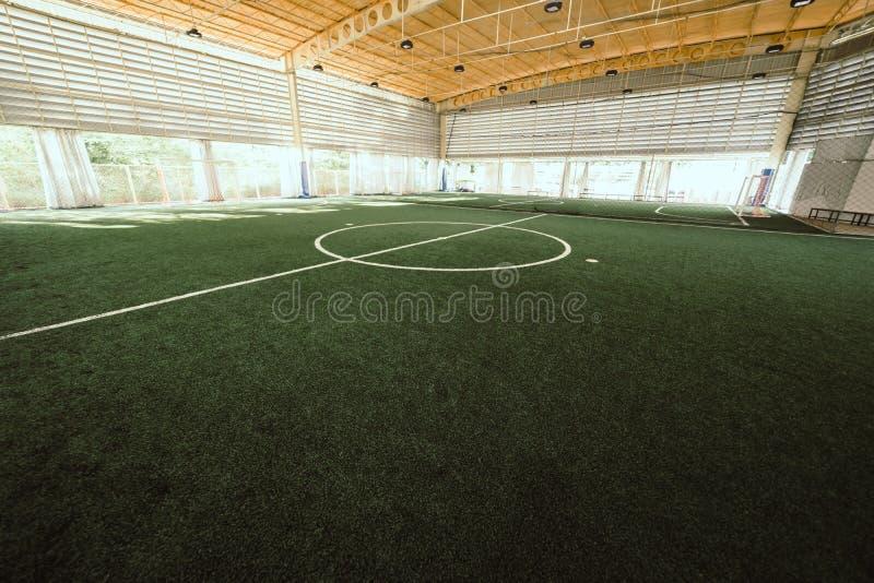 Linea di campo di formazione dell'interno di calcio di calcio fotografia stock