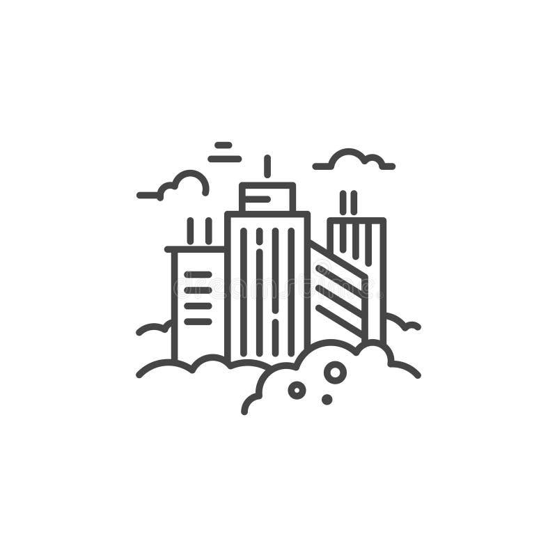 Linea di città icona illustrazione di stock