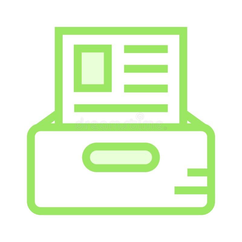 Linea di colore del cassetto del documento icona royalty illustrazione gratis