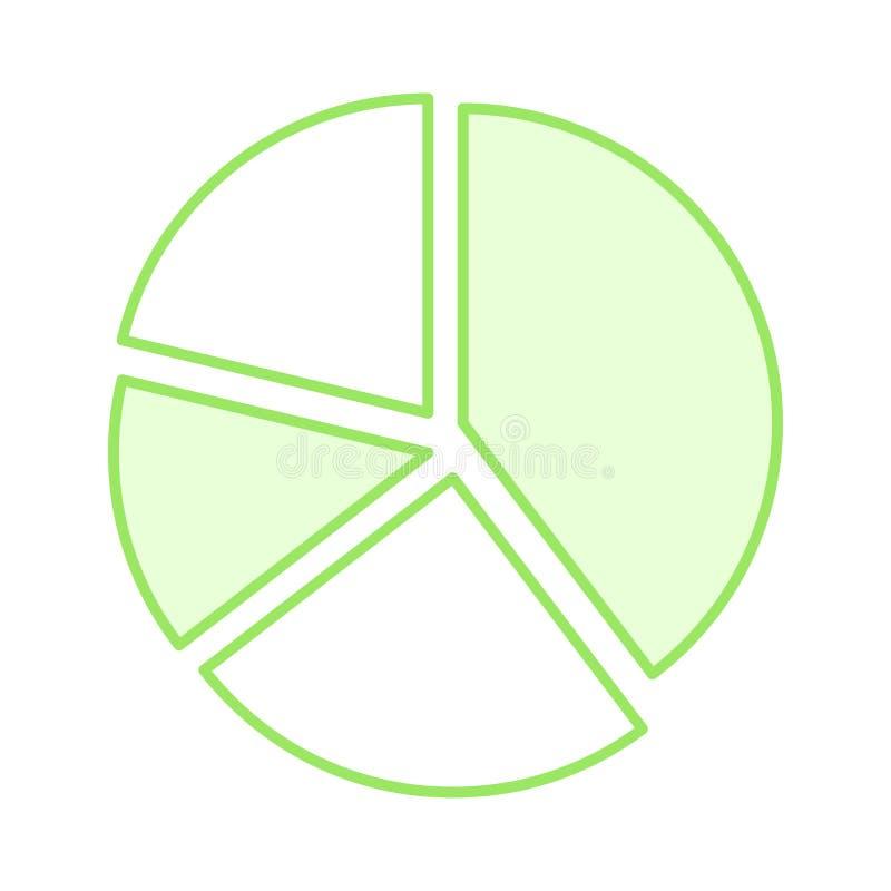 Linea di colore del grafico icona illustrazione di stock