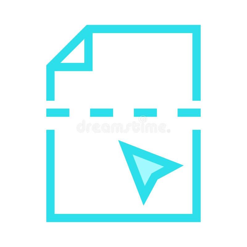 Linea di colore del taglio dell'archivio icona illustrazione vettoriale