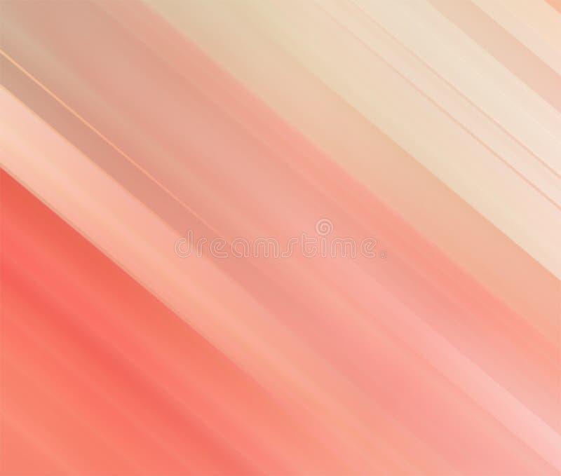 Linea di colore rosso e fondo astratti della banda con il modello variopinto delle linee e delle bande di pendenza illustrazione di stock