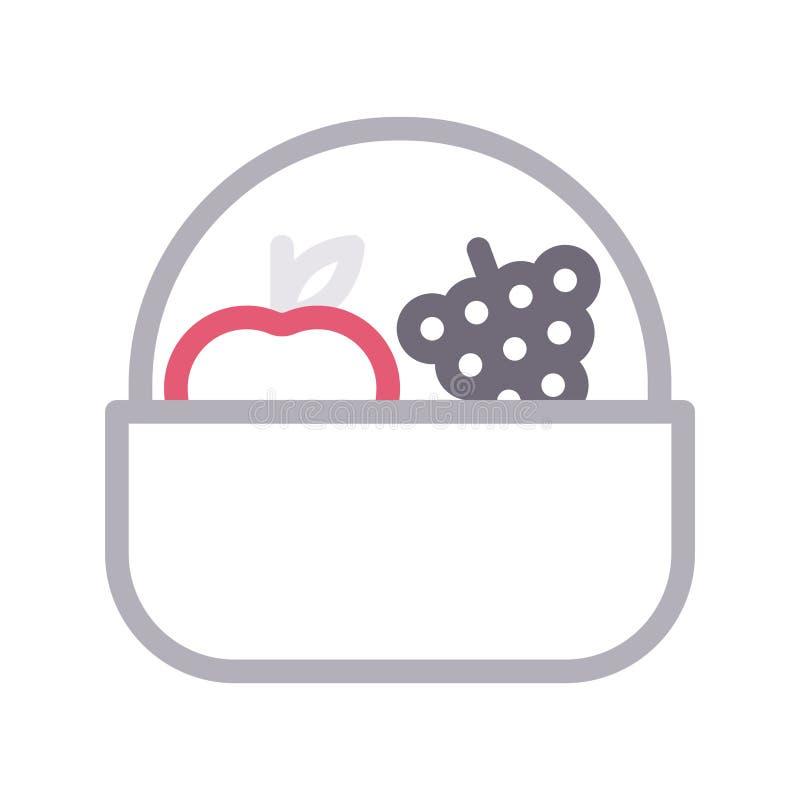Linea di colore sottile di Apple icona di vettore illustrazione di stock