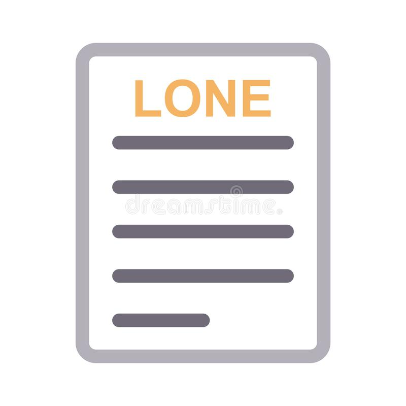 Linea di colore sottile del documento solo icona di vettore royalty illustrazione gratis