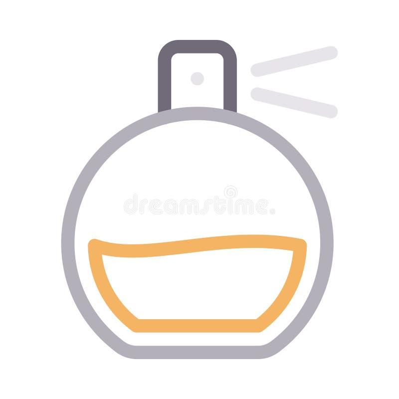 Linea di colore sottile di fragranza icona di vettore royalty illustrazione gratis