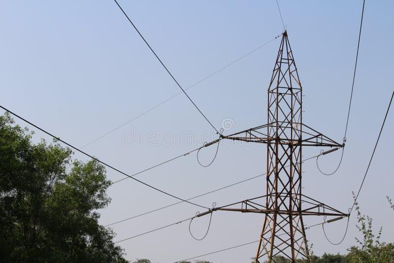 Linea di corrente elettrica fotografia stock