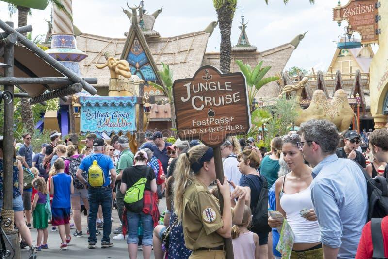 Linea di crociera della giungla, Disney World, viaggio, regno magico immagine stock libera da diritti