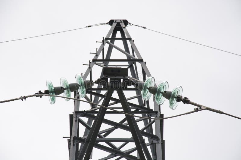 Linea di elettricità di potere fotografie stock