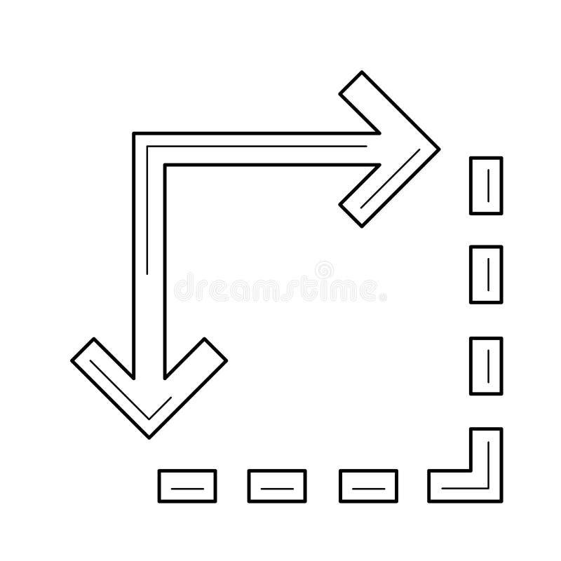 Linea di estensione contenta icona royalty illustrazione gratis