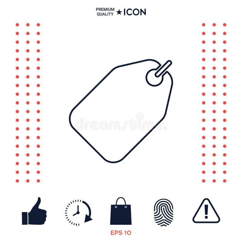 Download Linea di etichetta icona illustrazione vettoriale. Illustrazione di buono - 117977288