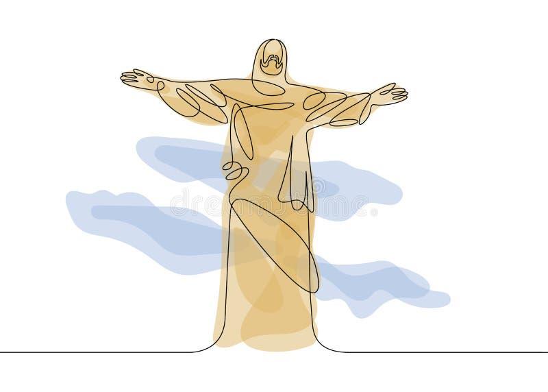 Linea di Gesù uno illustrazione vettoriale