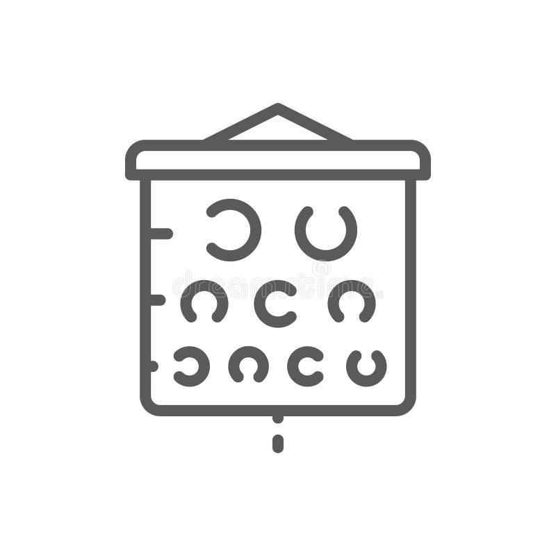 Linea di grafico della prova di visione icona illustrazione di stock