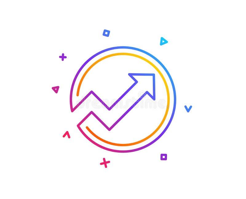 Linea di grafico icona Riferisca il grafico nel segno del cerchio Vettore royalty illustrazione gratis